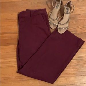 Maroon JCrew Trouser